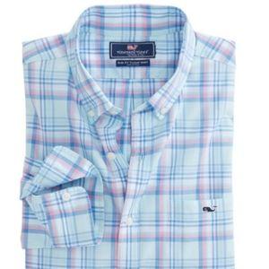 Vineyard Vines Plaid Slim Fit Tucker Shirt Medium